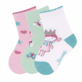Sterntaler Baby Girls' Chaussettes En Pack De 3 Princesse Calf Socks
