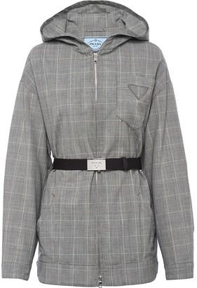 Prada Belted Zip-Front Jacket