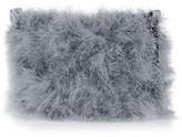 Topshop Faye Marabou Feather Bag - Grey
