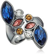 GUESS Clustered Stone Bypass Ring, Size 7