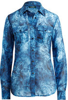 Ralph Lauren Petite Tie-Dye Button-Down Shirt