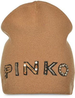 Pinko Logo-Embellished Beanie