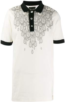 Billionaire crest print polo shirt