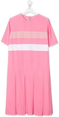 Marni TEEN colour blocked T-shirt dress