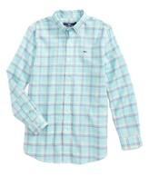 Vineyard Vines Boy's Capaum Plaid Whale Shirt