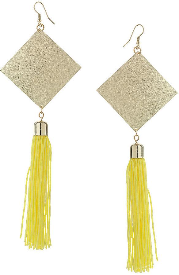 Topshop Diamond Shape Tassel Earrings