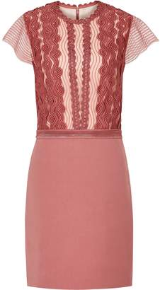 Reiss Veriana - Lace Bodice Dress in Pink