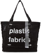 A-Cold-Wall* Black Plastic Frayed Tote