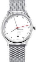 Mondaine Mh1-r2211-sm Helvetica Spiekermann Edition Regular Stainless Steel Watch