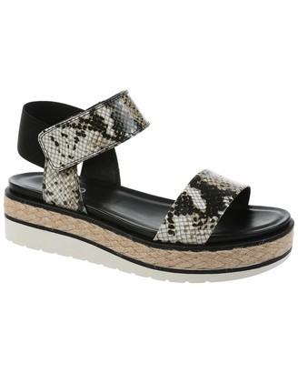 Franco Sarto Womens Tinaka Natural Strappy Sandals 8.5 M