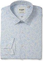 Ben Sherman Men's Paisley Print Shirt with Soho Spread Collar