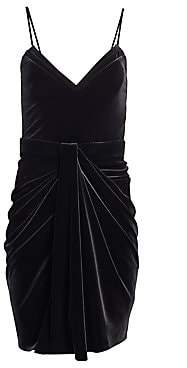 Brandon Maxwell Women's Velvet Mini Dress