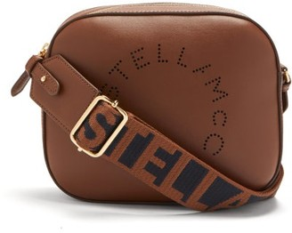 Stella McCartney Logo-strap Faux-leather Camera Bag - Brown