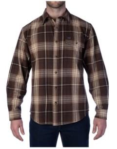 Smith's Workwear Men's Heavyweight Long Sleeve Plaid One Pocket Shirt