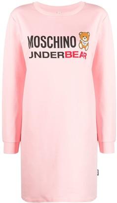 Moschino UnderBear logo-print T-shirt dress