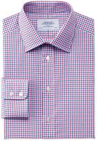 Charles Tyrwhitt Slim fit Egyptian cotton Jermyn St check red and blue shirt