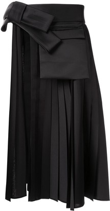 Dice Kayek Cut-Out Detail Pleated Overskirt