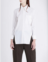 Jil Sander Pointed collar wool-blend shirt