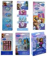 BT Frozen Toy Set with 3ct Dog Tags, Jumbo Playing Cards, Memory Match, 4ct Plastic Rings, 6ct Hair Ponies, and 12ct Press on Nails