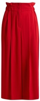 Sonia Rykiel Paperbag-waist wide-leg crepe culottes