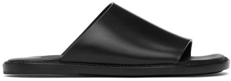 Ann Demeulemeester Black Open Toe Flat Sandals