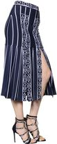 Peter Pilotto Pleated Stretch Viscose Knit Midi Skirt