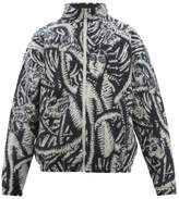 Y/Project Y/project - Abstract Jacquard Knit Wool Jacket - Mens - Black Beige