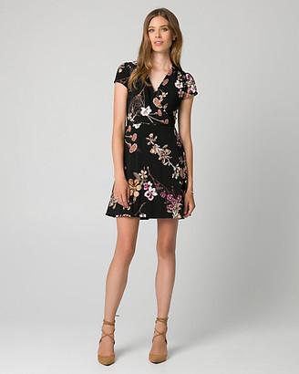Le Château Floral Print Knit Faux Wrap Dress