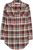 Étoile Isabel Marant Madoc oversized cotton plaid shirt