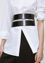 Ann Demeulemeester kenya black double wrap belt