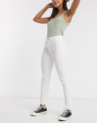 We The Free by Free People Miles Away skinny jeans in white