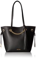 Calvin Klein Unlined Novelty Tassel and Chain Tote