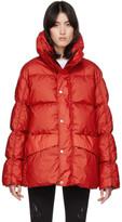 Moncler Genius SSENSE Exclusive 6 1017 ALYX 9SM Red Down Eris Jacket