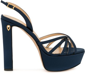 Jennifer Chamandi platform sling-back sandals