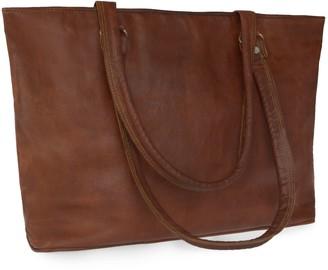 Vida Vida Vida Vintage Leather Tote Bag