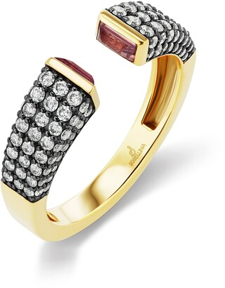 Sorellina Diamond Pave Bezel Set Open Ring