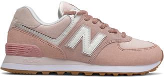 New Balance 574 Suede-Trim Sneaker