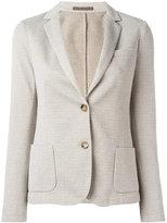 Eleventy fitted blazer jacket - women - Cotton/Polyamide/Polyester/Viscose - 42