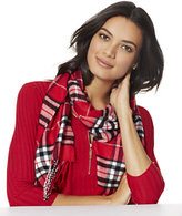 New York & Co. Fringed Plaid Scarf
