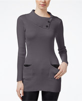 Amy Byer Juniors' Envelope-Neck Sweater