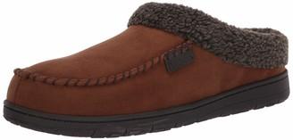 Dearfoams Men's Brendan Microsuede Moc Toe Clog Detail Slipper