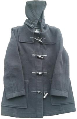 Gloverall Black Wool Coat for Women