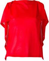 MM6 MAISON MARGIELA draped sleeve top - women - Cotton/Viscose - S