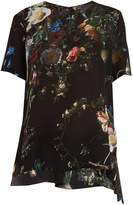 ADAM by Adam Lippes Floral-print silk crepe de Chine top
