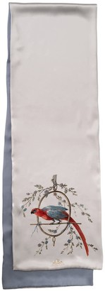 Castlebird Rose Le Perroquet Scarf Silver & Gray
