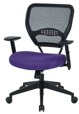 Symple Stuff Pascarella Mesh Task Chair Seat Color: Red Mesh Fabric