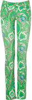 Etro Apple-Multi Paisley Print Jeans
