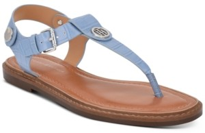 Tommy Hilfiger Bennia T-Strap Flat Sandals Women's Shoes