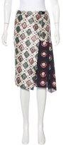 Dries Van Noten Silk Abstract Print Skirt