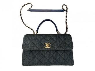 Chanel Coco Handle Blue Denim - Jeans Handbags